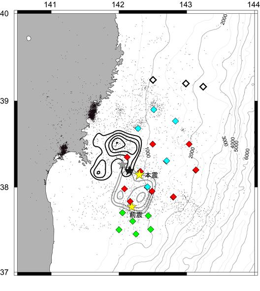 陸上、海底観測網とその記録 | ...